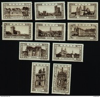 Lot Vignettes SNCF : St Jean D'Angély , Cognac , Niort , La Roche Sur Yon , Les Sables D'Olonne , .... (Art. N° 588-3) - Autres