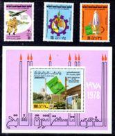 1.9.1978; 9e Anniversaire De La Révolution Sept. YT 700 - 702 + BF26, Neuf **, Lot 50791 - Libye