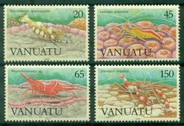 VANUATU N° 822 / 825 N Xx  CREVETTES  Tb Cote 10.00 € - Vanuatu (1980-...)