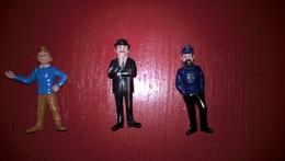 Lot De 3 Figurines  Tintin - Esso Belvision 1973 - Tintin , Haddock  , Dupont - Kuifje