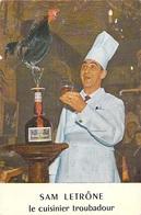 [78] Yvelines (Jouars) Pontchartrain  CHEZ SAM Le Cuisinier Troubadour SAM LETRÔNE  (coq Grand-Marnier Métier Artisan) - Aubergenville