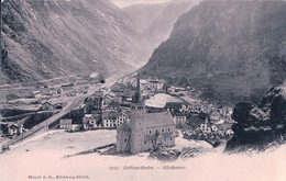 Gotthardbahn, Göschenen, Chemin De Fer Et Tunnel (2312) Pli - UR Uri