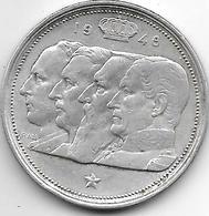 *belguim 100 Francs 1948 French Vf+ - 1945-1951: Régence