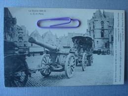 FURNE S : Canon Français De 120 Long Avec Tracteur Auto. Traversant La Grand'place - Oorlog 1914-18