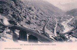 Gotthardbahn, Ferrovia Del Gottardo-Pianotando-Viadotto E Gallerie (6076) - Ouvrages D'Art