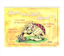 Cp, Bandes Dessinées, COCCINELLE ESCARGOT Snail Gotlib Dargaud Edit 2004 - Longue Vue - Alors On Se Voit Quand ? - Comics