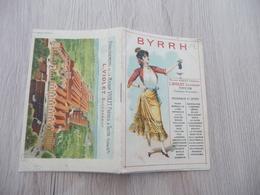 Pub Publicité Carnet Byrrh Violet Illustrée Couleur L.Violet Thuir Pyrénées Orientales Alcool - Publicités