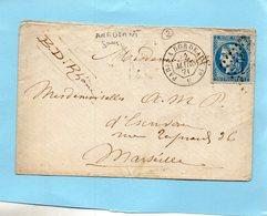 N°45 B Type II Report 2 ,ambulant Jour Paris à Bordeaux LSC Du 22.3.1871 - 1849-1876: Klassik