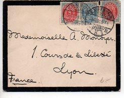 Danemark : Affranchissement Composé Sur Lettre De 1912 Pour La France - 1905-12 (Frederik VIII)