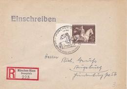 Samriebrief Aus München Nach Augsburg 1943 - Germany