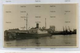 Shetland SS St Clair North Boat Ferry At Either Aberdeen Or More Possibly Leith 1937 Postcard - Shetland