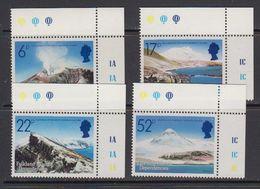 Falkland Islands Dependencies (FID) 1984 Volcanoes 4v (corners) ** Mnh (41700A) - Zuid-Georgia