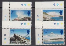 Falkland Islands Dependencies (FID) 1984 Volcanoes 4v (corners) ** Mnh (41700B) - Zuid-Georgia