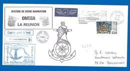976 Dzaoudzi MAYOTTE - Patrouilleur ALBATROS - Station Radio OMEGA (4624) 23/05/1986 - Marcophilie (Lettres)