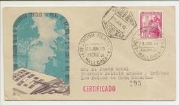 Historia Postal España  Carta  Palma - Las Palmas  1949   NL1311 - 1931-Today: 2nd Rep - ... Juan Carlos I