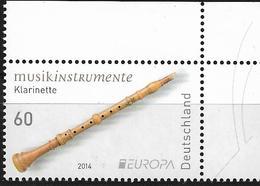 2014  Allem. Fed.  Deutschland MI. 3078 **MNH  Europa: Volksmusikinstrumente. - [7] République Fédérale