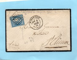 N°45 C,type II,report 3,L.S.C. De MARSEILLE Le 4/2/71. - 1849-1876: Klassik