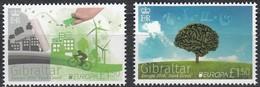 Gibraltar 2016 Micheln° 1727-1728 *** MNH Cept Europa Think Green - Gibraltar