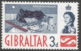 Gibraltar. 1960-62 QEII. 3d MH. SG164 - Gibraltar