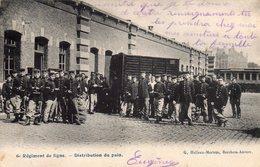 6ème Régiment De Ligne.--Distribution Du Pain. - België