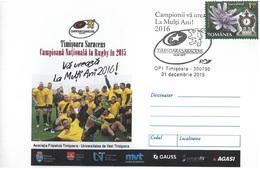 Romania, Timisoara, Rugby, Sport - Entiers Postaux