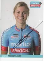 LAURA  VERDONSCHOT    SIGNEE  MARLUX  BINGOAL - Ciclismo