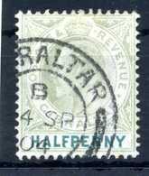 1904-08 GIBILTERRA N.47 USATO - Gibilterra
