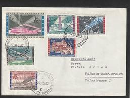1047-52 Expo 58 Op Brief Naar Duitsland - Cartas