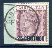 1889 GIBILTERRA N.17 USATO - Gibilterra