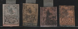 TURQUIE - 1863 - 4 TIMBRES Obl - - 1858-1921 Empire Ottoman