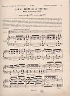 Répertoire Classique Chant Français N°28 Air Et Scène De LA VESTALE Soprano Dramatique Opéra De SPONTINI (1807) BE - Partitions Musicales Anciennes