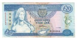Cyprus 20 Pounds 01/03/1993 - Cipro