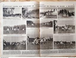 1921 RUGBY - PERPIGNAN GAGNE SUR TOULOUSE LE CHAMPIONNAT DE FRANCE À BEZIERS - Books, Magazines, Comics