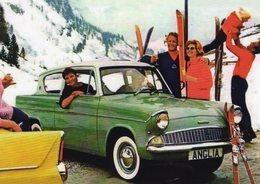 Ford Anglia 105E  -  1961  -  CPM - Voitures De Tourisme
