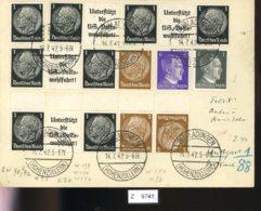 Deutsches Reich, Brief Aus Gebrauchspost Mit Zusammendruck: W 91, W 92, K 22 - Se-Tenant