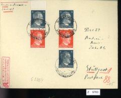 Deutsches Reich, Brief Aus Gebrauchspost Mit Zusammendruck: S 278, S 279 - Zusammendrucke