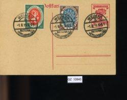 Deutsches Reich, Ganzsache P 115 Mit SST Und Zusatzfrankatur - Stamped Stationery