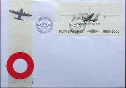 Denmark 2000 Air Force 50 Years  MiNr.1259  Block 15  (O)     ( Lot  3973 ) - FDC