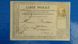 Carte Précurseur N° 5 De Neufchâtel Seine Inferieure Pour Formerie Oise  1874 - Entiers Postaux