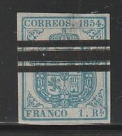 ESPAGNE - N°34  (1854)  SELLOS BARRADOS - 1850-68 Kingdom: Isabella II