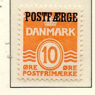 PIA - DANIMARCA -1936-37 :  Francobollo Precedente Sovrastampato POSTFAERGE - (Yv 235) - 1913-47 (Christian X)