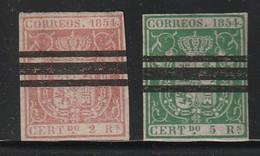 ESPAGNE - N°25/26  (1854)  SELLOS BARRADOS - 1850-68 Kingdom: Isabella II