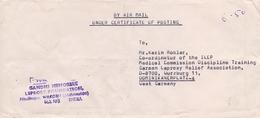 INDIA AIR  MAIL    FANTASTIC COVER GANDHI MEMORIAL  (GEN190133) - Posta Aerea