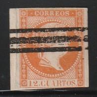 ESPAGNE - N°50 A  (1859) Isabel II - 12cu -  SELLOS BARRADOS - Usati