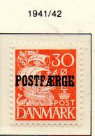 PIA - DANIMARCA -1941-42 :  Francobollo Precedente Sovrastampato POSTFAERGE - (Yv 264C) - 1913-47 (Christian X)
