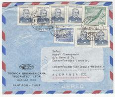 """Tecnica Sudamericana """"Sudamtec"""" Letter Cover 196? 6 B190120 - Chile"""
