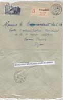 LETTRE. REUTILISÉE. CURIOSITÉ. 2 1 48 RECOMMANDÉ ROULANS  DOUBS. 8 1 48 EMA DIJON CENTRE ADMINISTRATION TERRITORIAL - 1921-1960: Moderne
