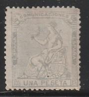 ESPAGNE - N°138 * (1873) Alegoria - 1 Peseta - 1873 1ª República