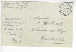 LENK SIMMENTAL WW2 SUISSE INTERNES CAMP INTERNEMENT /FREE SHIP. R - Storia Postale
