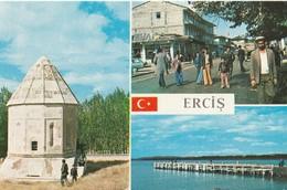 Turkey / Van / Erciş - Building - Architecture / View - 1970/80 - Postcard: Various Views From The City. - Turquie
